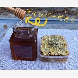 日本みつばちハチミツ200g&巣蜜100g☆一周年記念セット☆