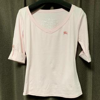 バーバリーブルーレーベル(BURBERRY BLUE LABEL)のバーバリーブルーレーベルBURBERRYBLUELABEL値下人気Tシャツロゴ入(Tシャツ(長袖/七分))