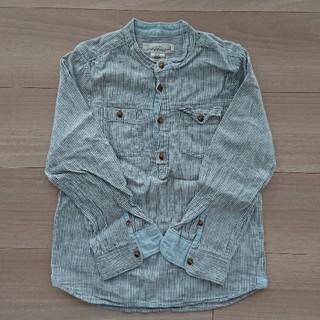 エイチアンドエム(H&M)のH&M ノーカラーシャツ 128(ブラウス)