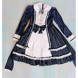 Angelic Pretty - British Stripeワンピース&カチューシャ