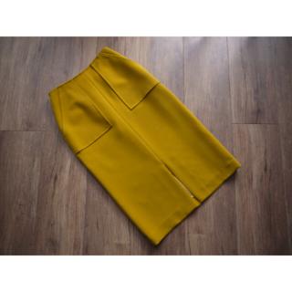 シップス(SHIPS)のSHIPS ダブルクロスポケットタイトスカート 36(ロングスカート)