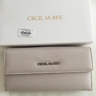 セシルマクビー(CECIL McBEE)の新品 セシルマクビー 長財布 ウォレット グレーベージュ(財布)