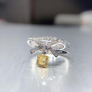 リボンイエローダイヤモンド指輪(リング(指輪))