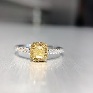 セールイエローダイヤモンドシンプル指輪(リング(指輪))