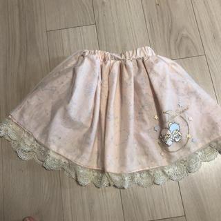 アクシーズファム(axes femme)のアクシーズファム  キキララ サンリオ  スカート  レース 刺繍 120(スカート)