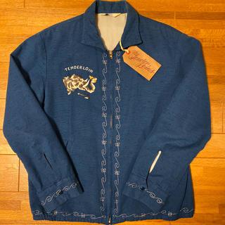 テンダーロイン(TENDERLOIN)の人気品! TENDERLOIN スーベニア ジャケット エレファント 刺繍 M(スカジャン)