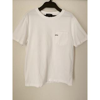 A.P.C - APC アーペーセー ロゴ ポケット Tシャツ 白 XS