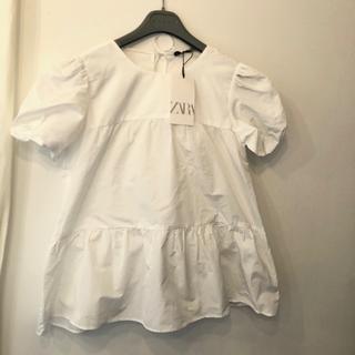ザラ(ZARA)のzara   パフスリーブトップス XS(シャツ/ブラウス(半袖/袖なし))