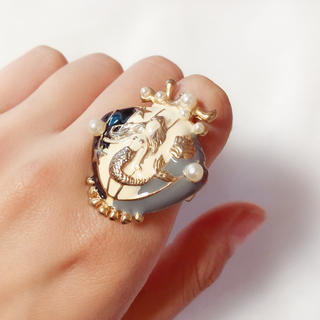 指輪 アンティーク風 マーメイド ゆめかわいい 11号(リング(指輪))