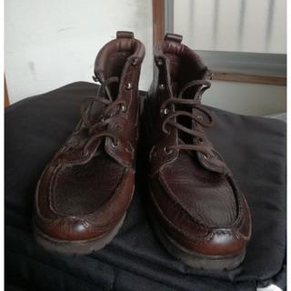 ポロラルフローレン(POLO RALPH LAUREN)のラルフローレン レザー 革靴 ブーツ ブラウン ビンテージ クラシック (ブーツ)