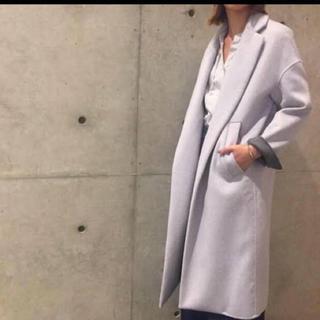 ENFOLD - 【美品】ENFOLD トップリバーチェスターコート ライトグレー