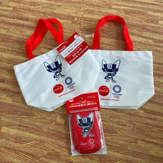 コカコーラ(コカ・コーラ)のトートバッグ アクティブポーチ 東京オリンピック 非売品(キャラクターグッズ)