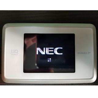 エヌイーシー(NEC)のUQ wimax モバイルルーター WiFi(PC周辺機器)