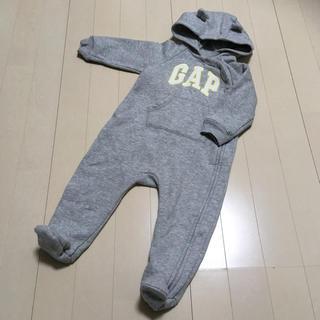 babyGAP - 人気サイズ人気色!ベビーギャップ くま耳カバーオール 足つき裏起毛ジャンプスーツ