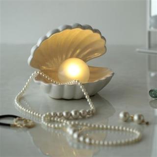 Francfranc - 新品【 フランフラン 】シェル ランプ 貝殻 ライト アクセサリートレイ 白