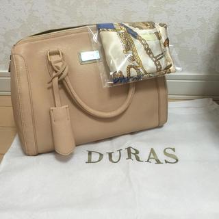 デュラス(DURAS)のDURASスカーフ付きボストン(ボストンバッグ)