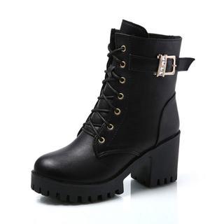 ハイヒールのブーツ女性の冬の靴暖かい豪華なレザーブーツ女性の冬のブーツセクシーな(ブーツ)