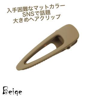 ザラ(ZARA)の人気商品✩マット✩ベージュ✩ヘアクリップ✩つや消し✩大きめ✩ヘアアレンジ✩送料込(バレッタ/ヘアクリップ)