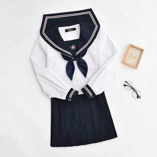 【送料無料】セーラー服スカート2点セット レディース秋刺繍Mz179(ミニスカート)
