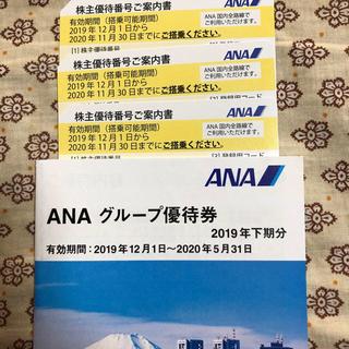 エーエヌエー(ゼンニッポンクウユ)(ANA(全日本空輸))のぐり様専用 ANA株主優待券 7枚(航空券)