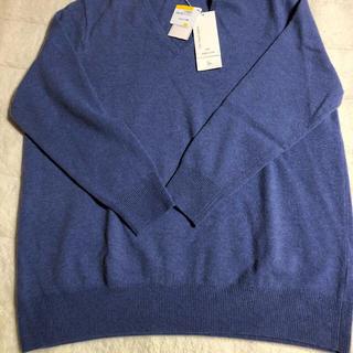 ニジュウサンク(23区)の大きいサイズ 23区 カシミヤ混セーター 新品 ブルー(ニット/セーター)