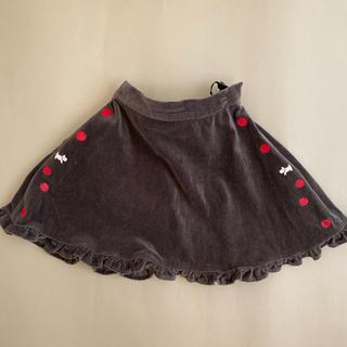 ポンポネット(pom ponette)のポンポネット  フレアスカート 110 りんごプリントと テリア柄(スカート)