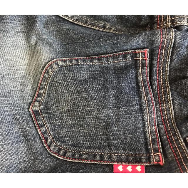 GU(ジーユー)のキッズ ガールズ デニム パンツ 140センチ キッズ/ベビー/マタニティのキッズ服 女の子用(90cm~)(パンツ/スパッツ)の商品写真