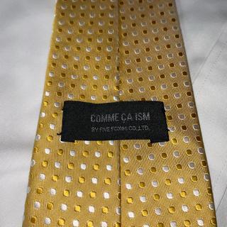 コムサイズム(COMME CA ISM)のCOMME CA ISM  コムサイズム イエロー 人気ドット柄 オシャレ(ネクタイ)