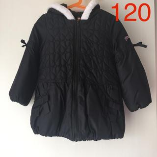 ベビードール(BABYDOLL)の【美品】BABY DOLL 中綿ダウンコート(120)pinkhunt ブラック(コート)