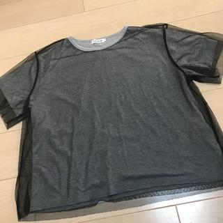 レプシィム(LEPSIM)のLEPSIM チュール付Tシャツ(Tシャツ(半袖/袖なし))