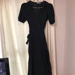 ギャップ(GAP)の新品未使用 gap ブラック ドレス(ひざ丈ワンピース)