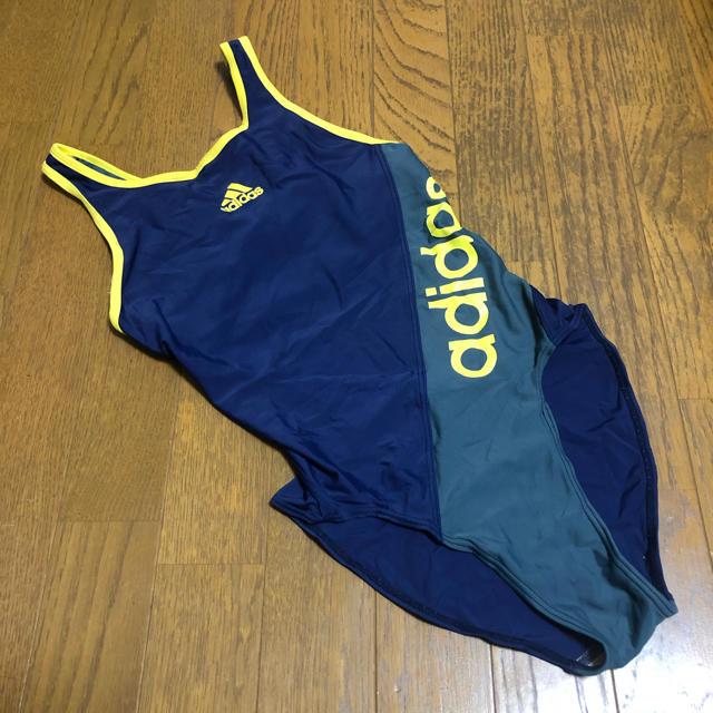 adidas(アディダス)のアディダス ロゴ入り競泳水着 Lサイズ レディースの水着/浴衣(水着)の商品写真
