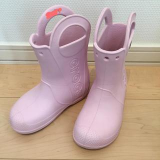 crocs - クロックス長靴c12 18.5センチピンク