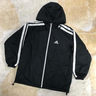 adidas - 【 adidas 】アディダス 中綿入りフード付きジャンバー 黒 150