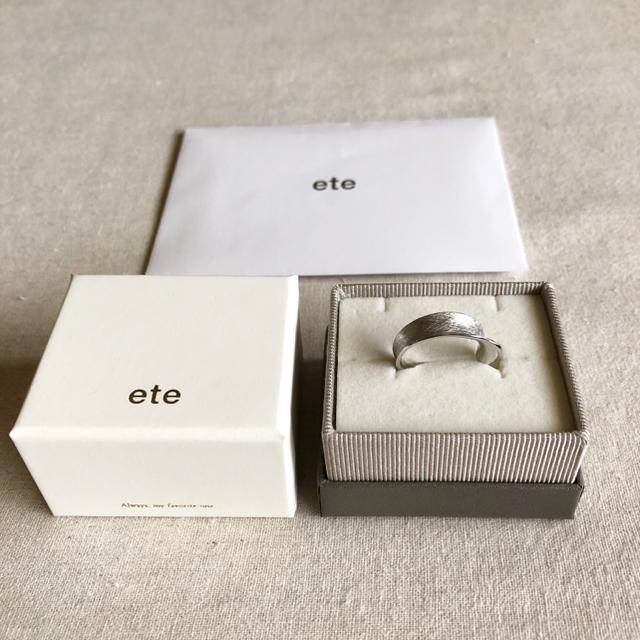 ete(エテ)の極美品🔸ete エテ ✴︎ シルバーリング「プレーティ」14号 レディースのアクセサリー(リング(指輪))の商品写真