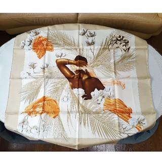 エルメス(Hermes)の【希少】エルメス 高級シルクスカーフ カレ90 王女のターバン(スカーフ)