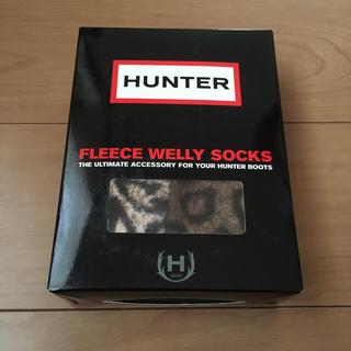 HUNTER - 未使用 ハンター レインブーツ インナーソックス レオパード MM