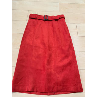 インデックス(INDEX)のindex  赤のスカート(ひざ丈スカート)