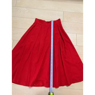 インデックス(INDEX)のindex 赤フレアースカート(ひざ丈スカート)