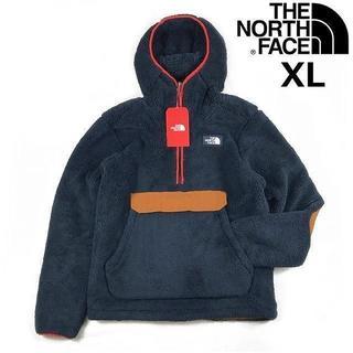 THE NORTH FACE - ノースフェイス プルオーバー シェルパフリース (XL)紺 茶 181024