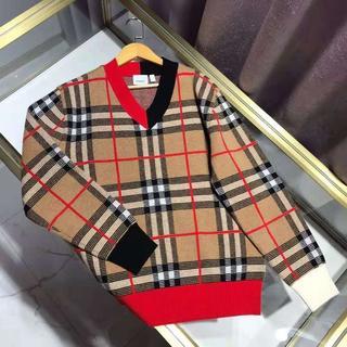 BURBERRY - BURBERRY*19AW*チェック ウール ジャカード Vネックセーター
