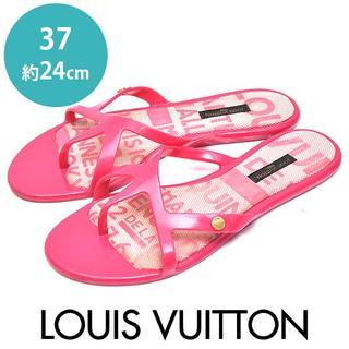 LOUIS VUITTON - ルイヴィトン ラバー フラット サンダル 37(約24cm)