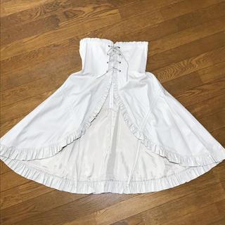 ヴィクトリアンメイデン(Victorian maiden)のヴィクトリアンメイデン ロイヤルフリルオーバースカート(ひざ丈スカート)