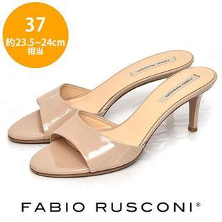 ファビオルスコーニ(FABIO RUSCONI)の美品❤️ファビオルスコーニ エナメル ミュール サンダル 37(23.5-24(サンダル)