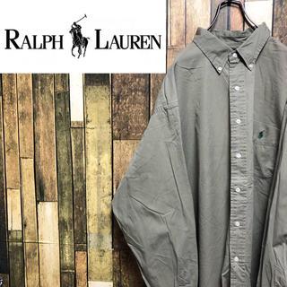 Ralph Lauren - 【激レア】ラルフローレン☆ワンポイント刺繍ロゴポケットスーパービッグシャツ90s