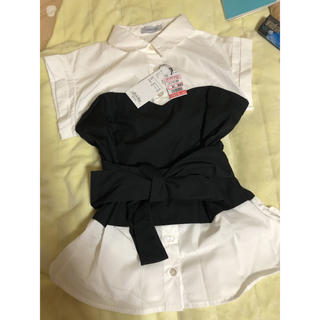 しまむら - リボフェイクビスチェシャツ