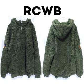 RODEO CROWNS WIDE BOWL - RCWB ロデオクラウンズ ボリューミー ボア パーカー ブルゾン カーキ