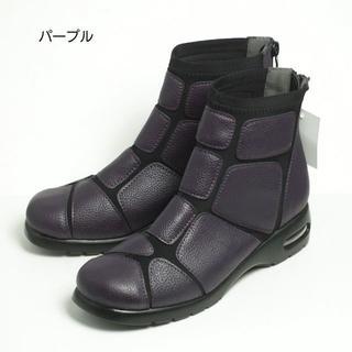 ショートブーツ レディース ブーツ 23.0cm パープル Mサイズ(ブーツ)
