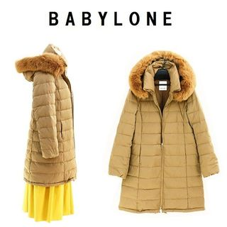 BABYLONE - 今季新品 38 BABYLONE フードファーロングダウンコート