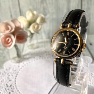 Gucci - 【動作OK】GUCCI グッチ シェリーライン 腕時計 ブラック レディース